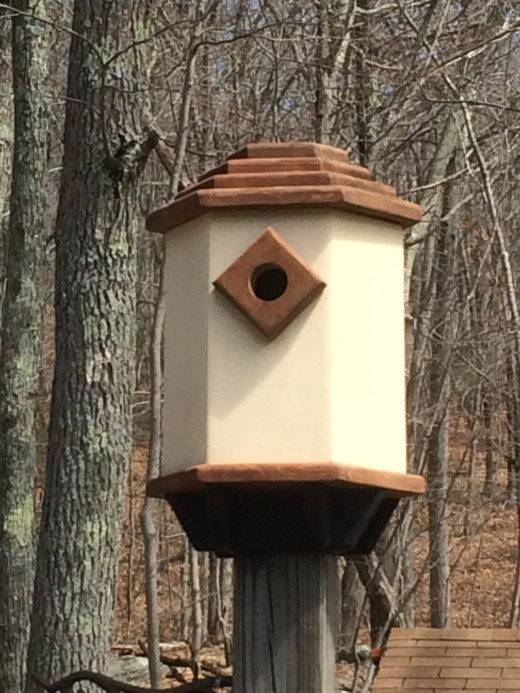 Simple Dovecote Style Birdhouse