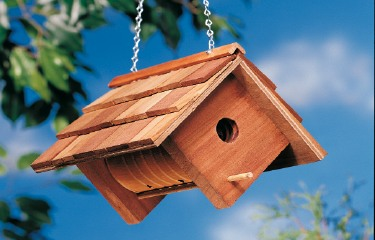 DIY Birdhouse With Wood and Coffee Cans