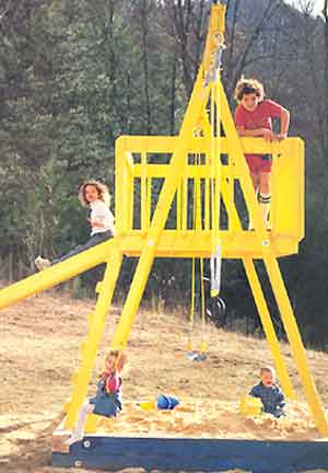 15 diy swing set build a backyard play area for your kids the self make a swing city for your kids solutioingenieria Gallery