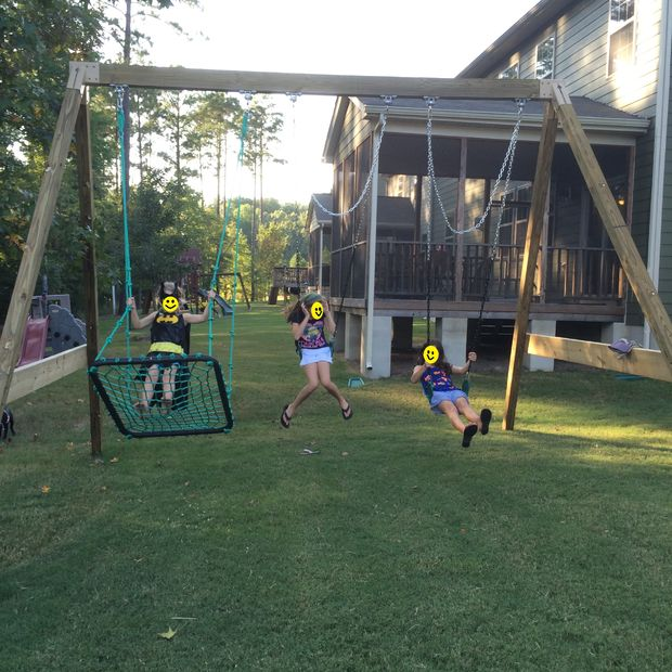 Sturdy A-Frame Swing Set