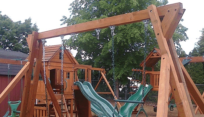 Red Cedar Swing Set