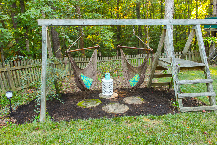 15 diy swing set build a backyard play area for your kids for Diy adult swing set
