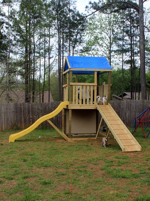 Create A Complete Play Fort With Swing Set