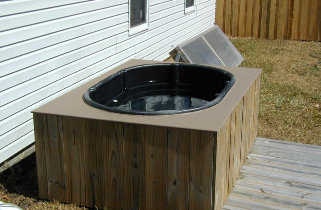 Solar and Cedar Homemade Hot Tub