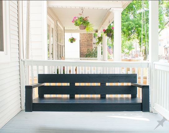 Classic Wood Porch Swing