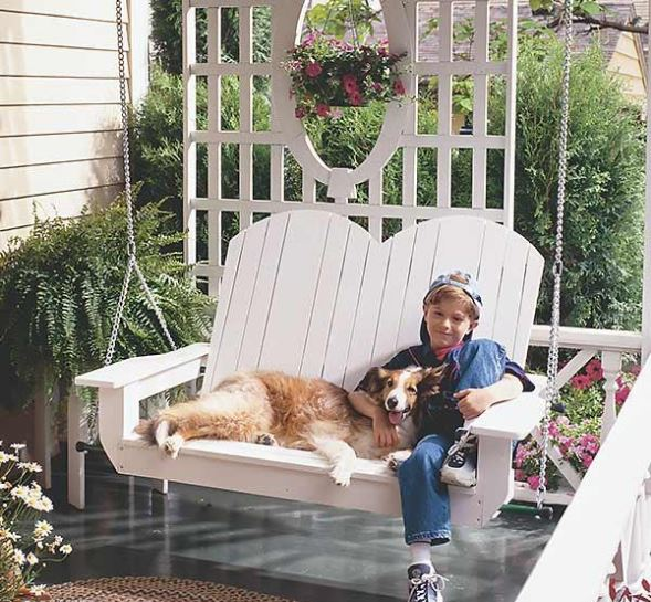 wooden porch swing plans