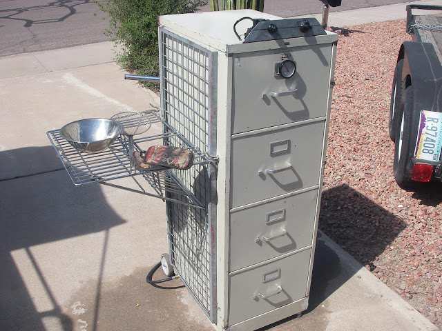 Side Rack File Cabinet Smoker