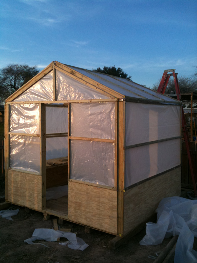 12 wood greenhouse plans you can build easily the self sufficient living for Wooden greenhouse plans designs