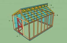 wood greenhouse plans