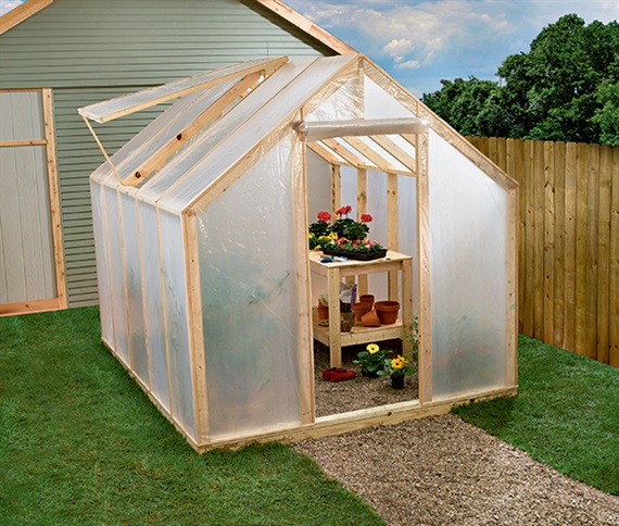 Wood Frame Greenhouse