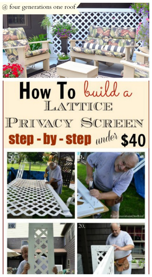 DIY Privacy Screen From Lattice Panels
