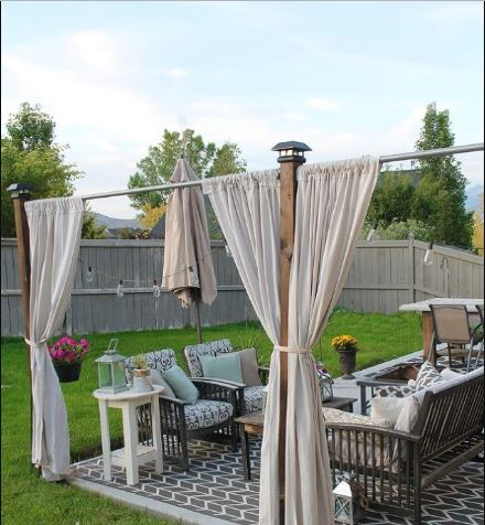 Pergola DIY Privacy Screen