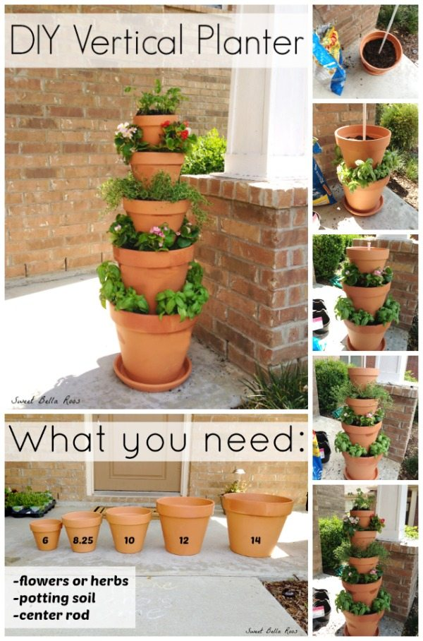 Terra Cotta Vertical Planter