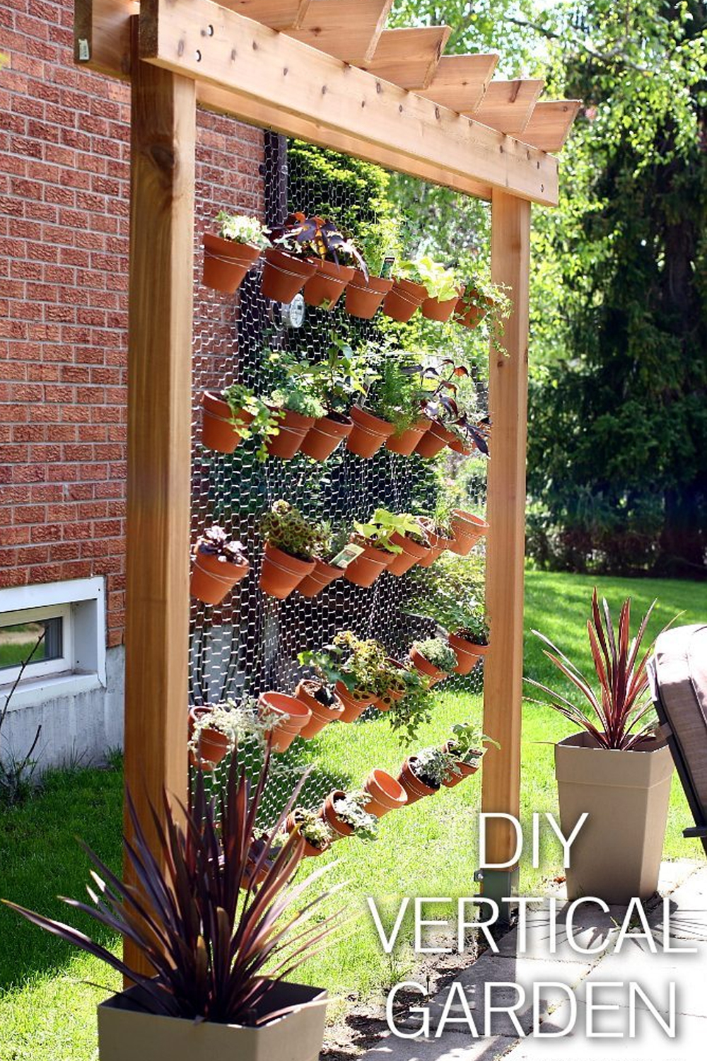 DIY Vertical Garden Wall