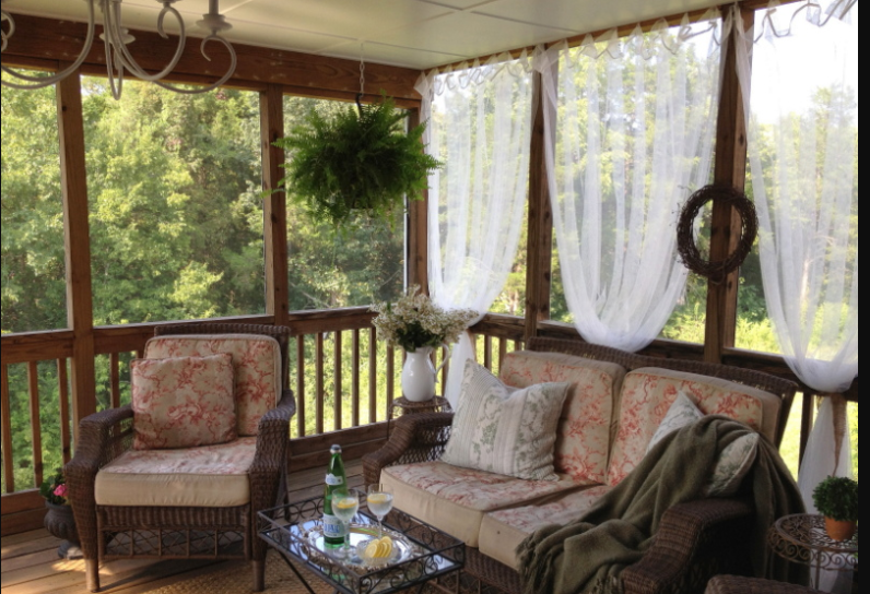 diy screened in porch