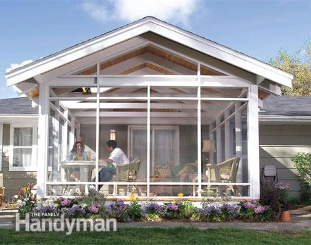 screened in porch plans