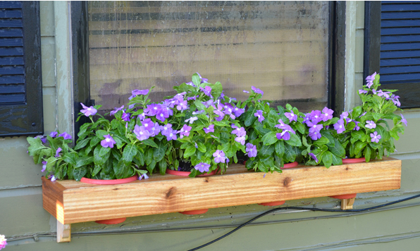 Do It Yourself Window Flower Box From Scratch