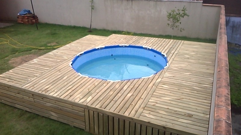 DIY Above Ground Pool and Deck