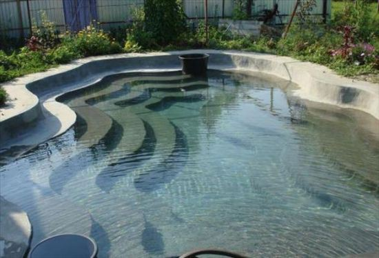 Backyard Pool With Build In Steps