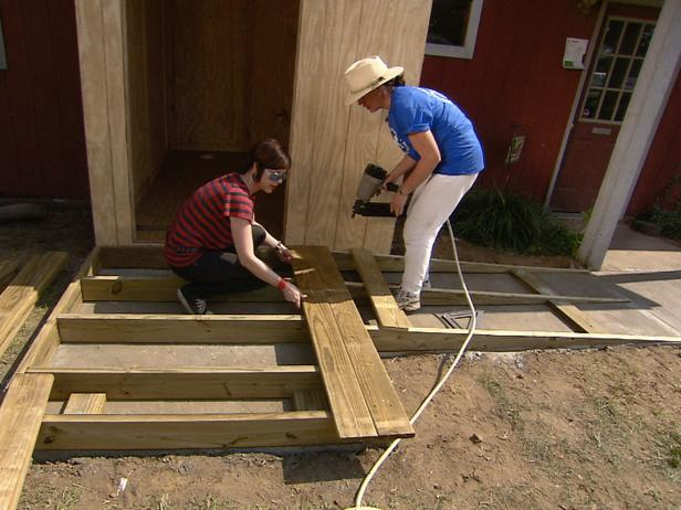 Make a Handicap Ramp and Landing