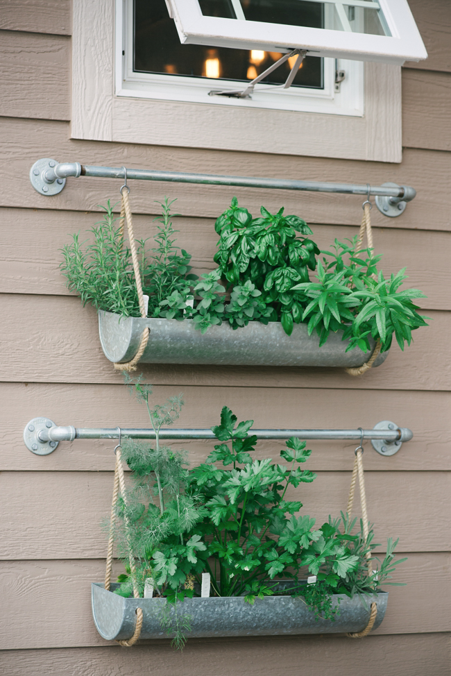 DIY Hanging Metal Planter