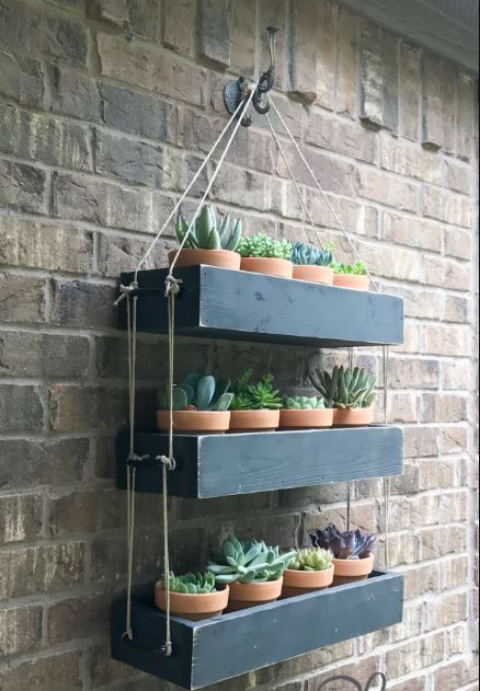 Shelve-Style Hanging Garden Planters