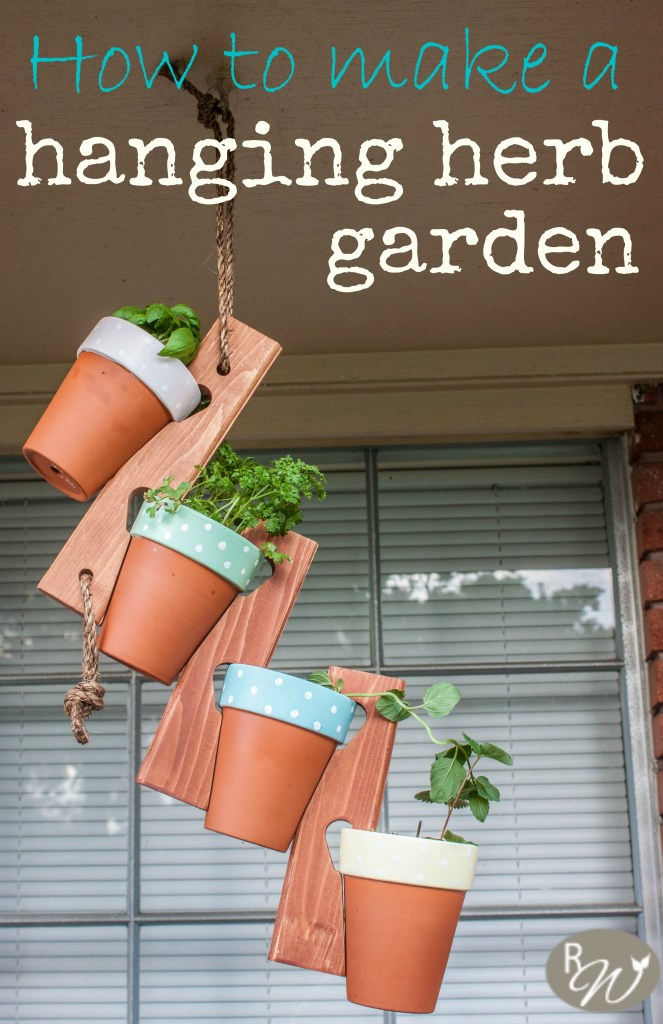 The Cutest Hanging Herb Garden