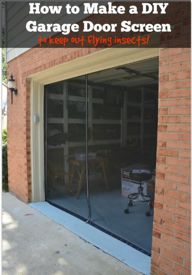 DIY Garage Door Screen With a Zipper