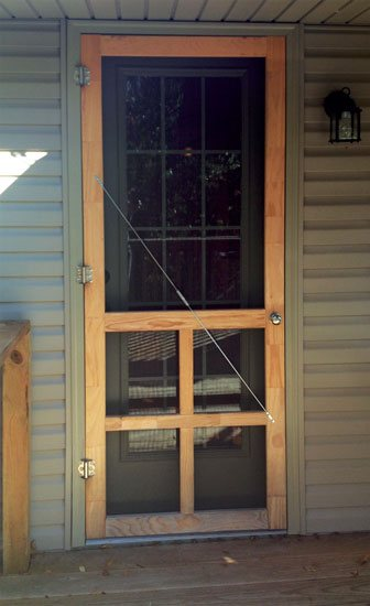 25 DIY Screen Door Projects To Keep Out Uninvited Invaders – The Wooden Screen Door Diy on