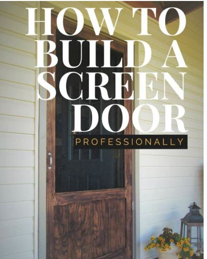 Screen Door From Pine