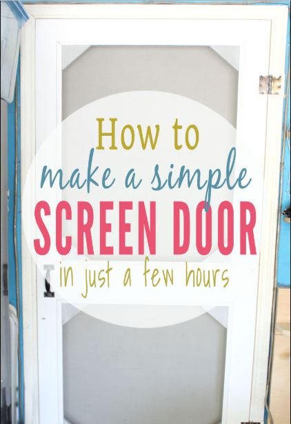 Screen Door From Scrap Wood
