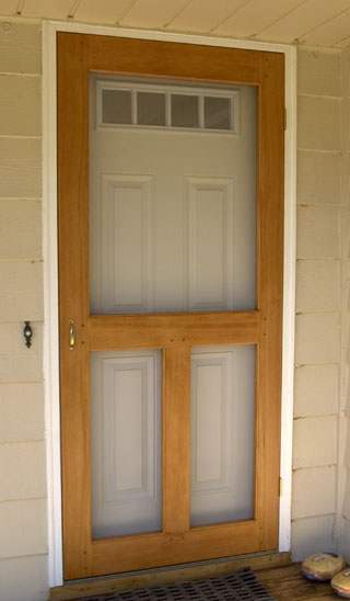 Simple Wooden Screen Door