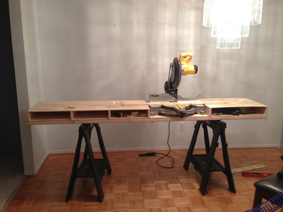 DIY meter saw table
