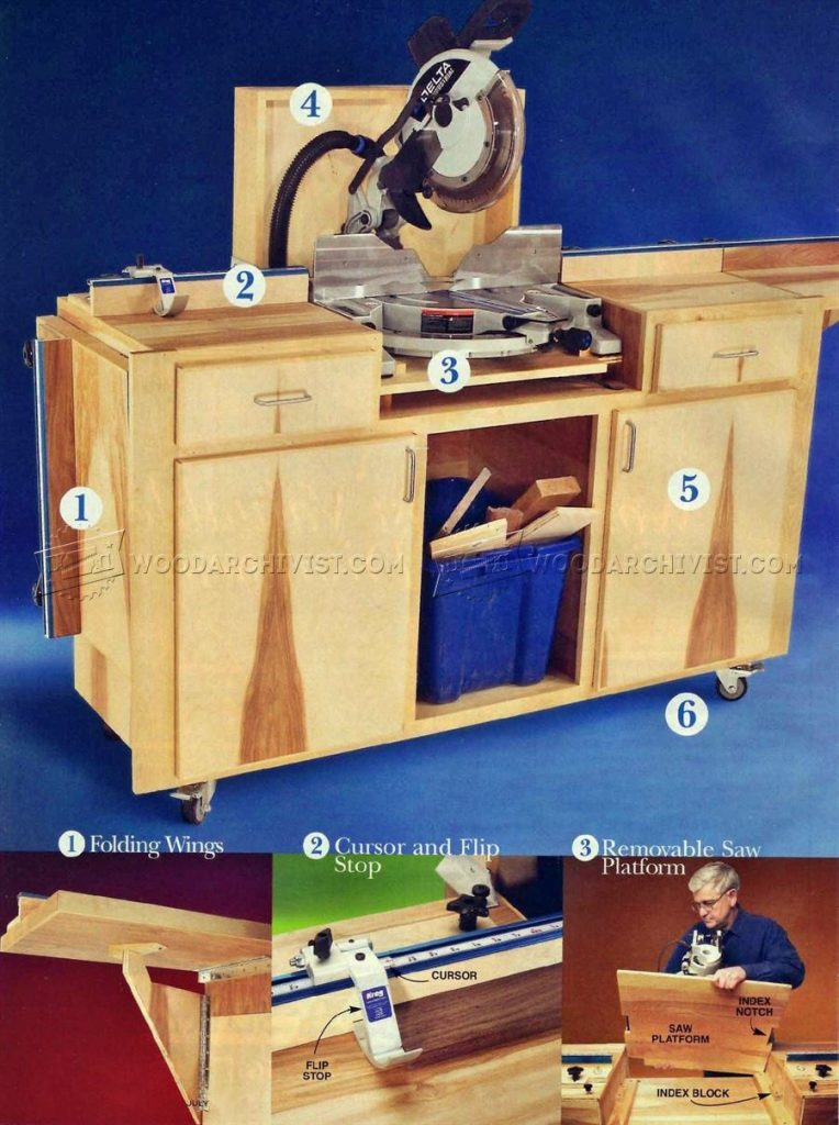 16 DIY Miter Saw Stands For DIY Woodworkers