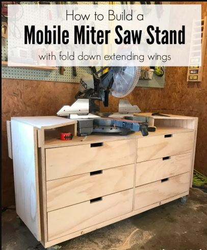 Mobile Miter Saw StandMobile Miter Saw Stand