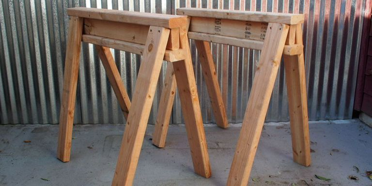 Stackable Sawhorses Plans From 2 x 4s