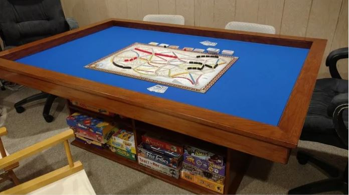 DIY Gaming Table with Built-in Game Storage