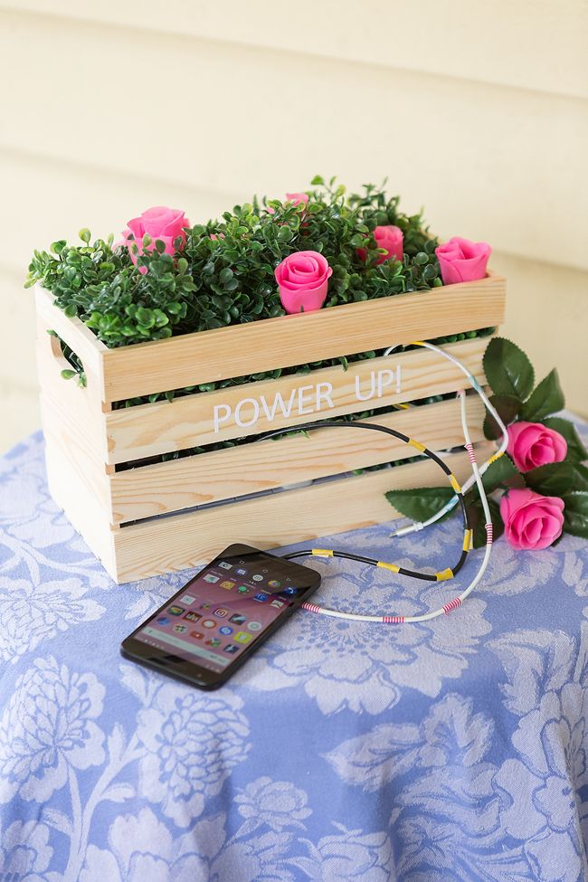 Planter Box Charging Station