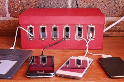 23 Diy Charging Stations To Hide Cords And Wires While Youre