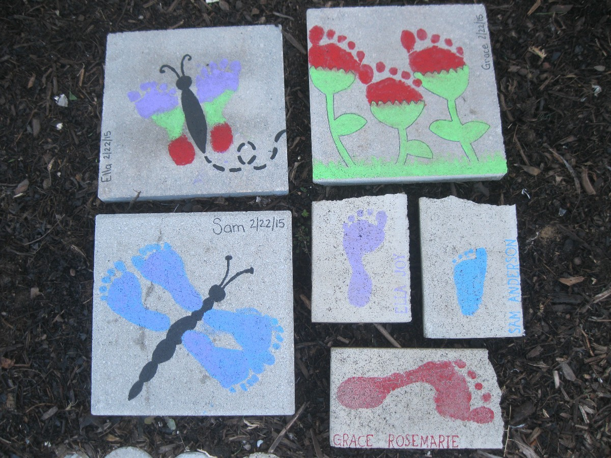 Footprint DIY Stepping Stones