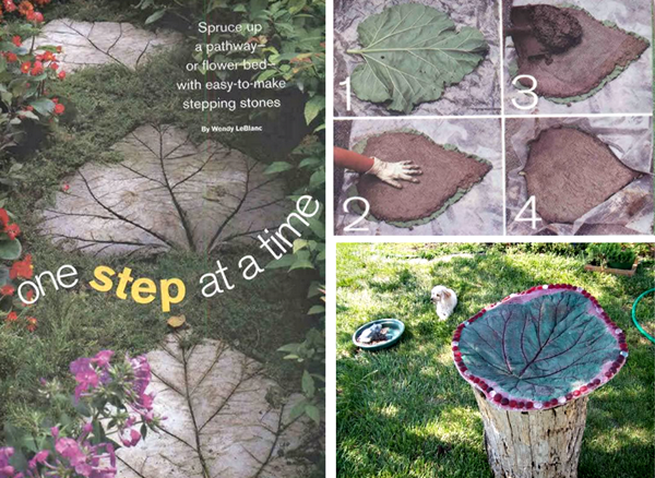 Leaf-Shaped DIY Stepping Stones