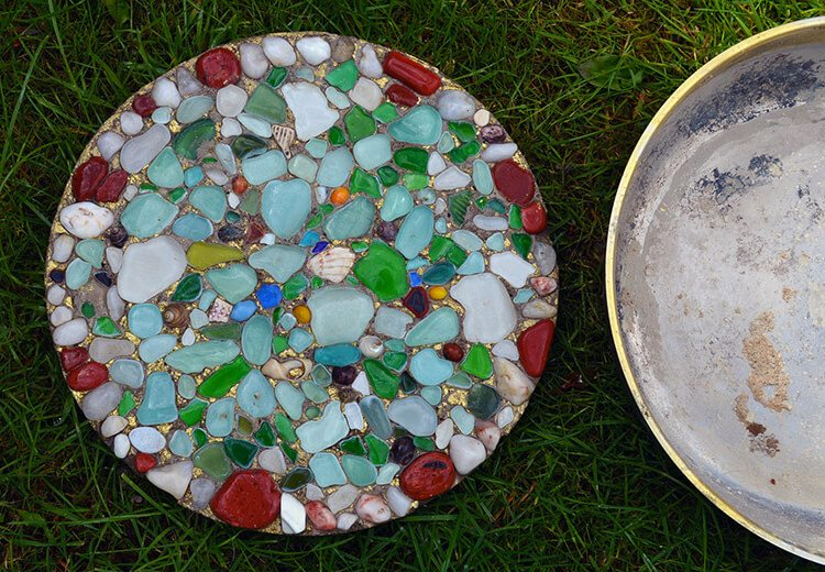 Sea Glass DIY Stepping Stones