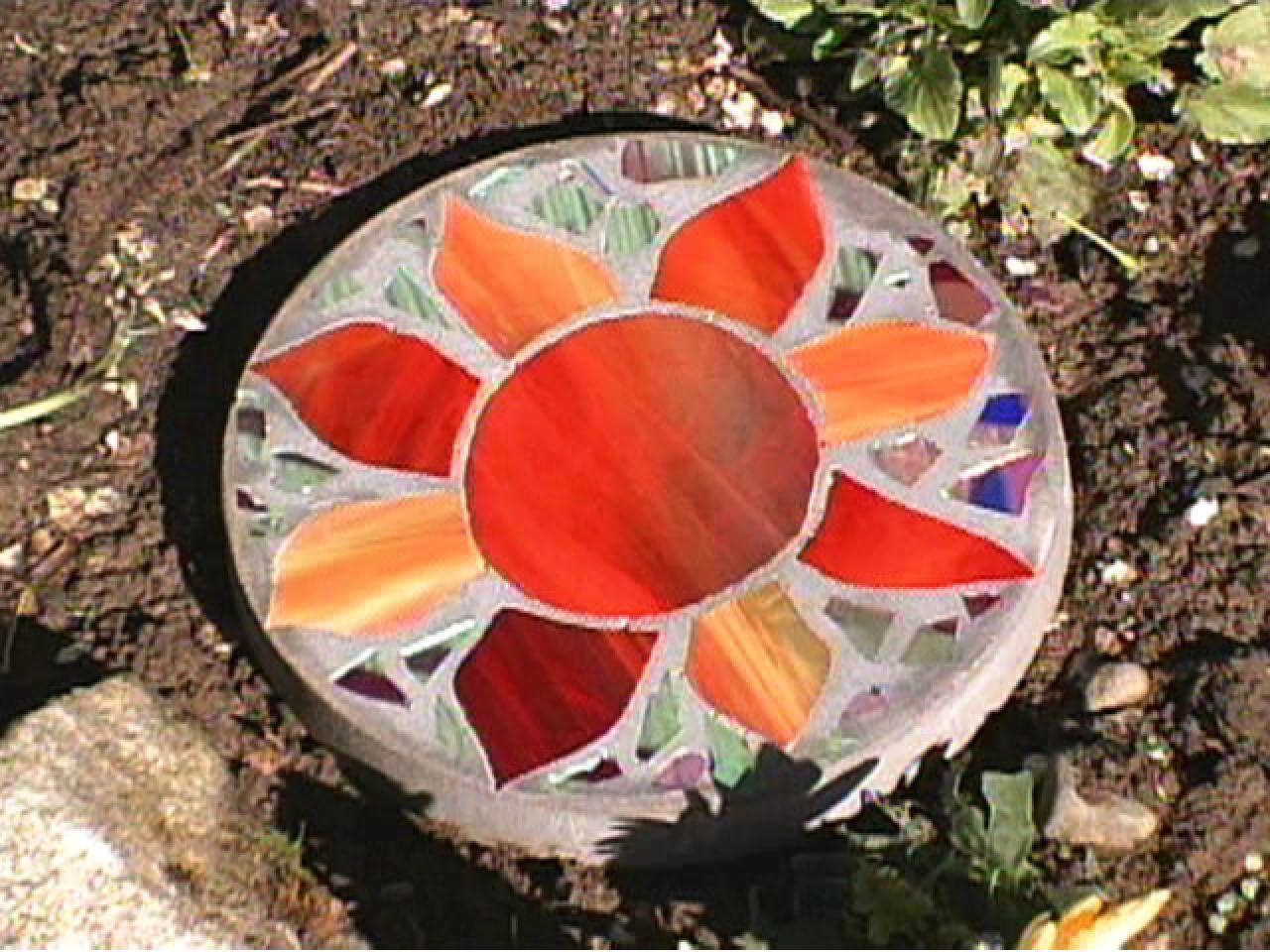 Stained Glass Stepping Stones
