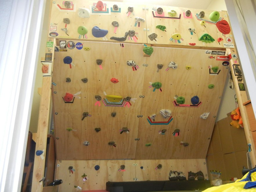 DIY Climbing Wall With Loft Bed