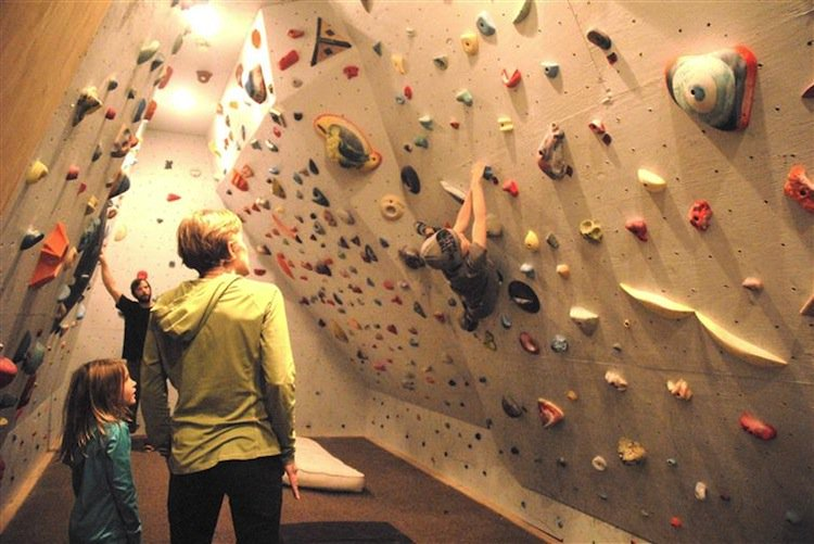 Climbing Wall With Storage