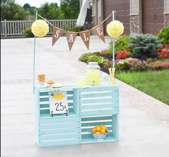Bright Wooden Lemonade Stand