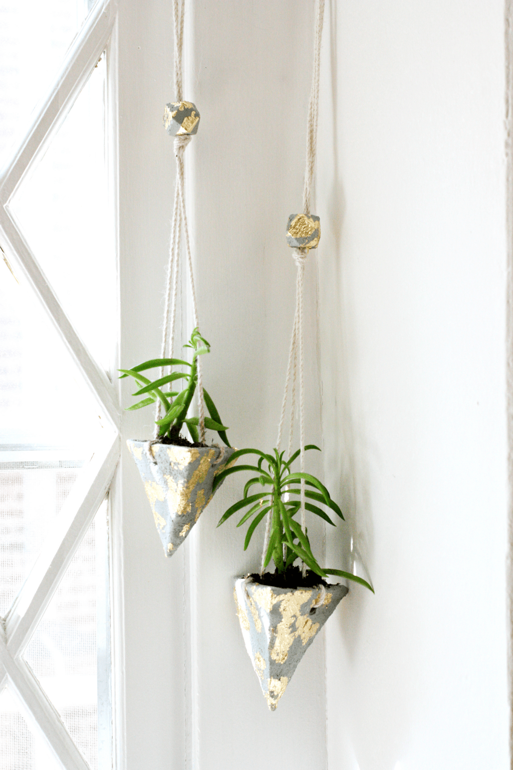 Hanging DIY Cement Planters