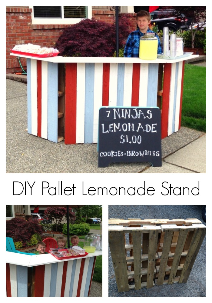 Wood Pallet Lemonade Stand