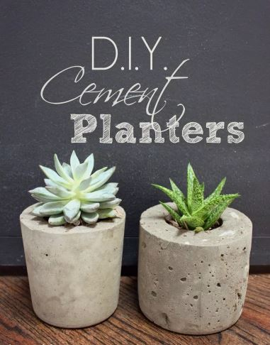 DIY Cement Planters and Globes