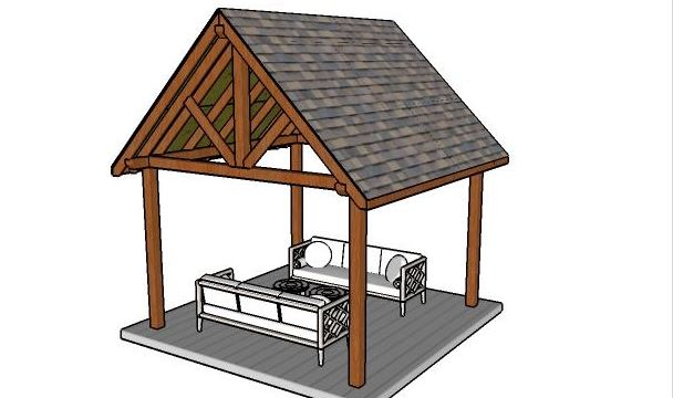 12'x12'outdoor pavilion Plan